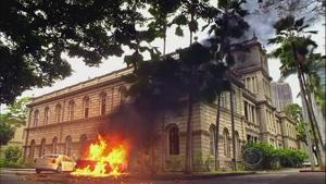 知事秘書車爆発2